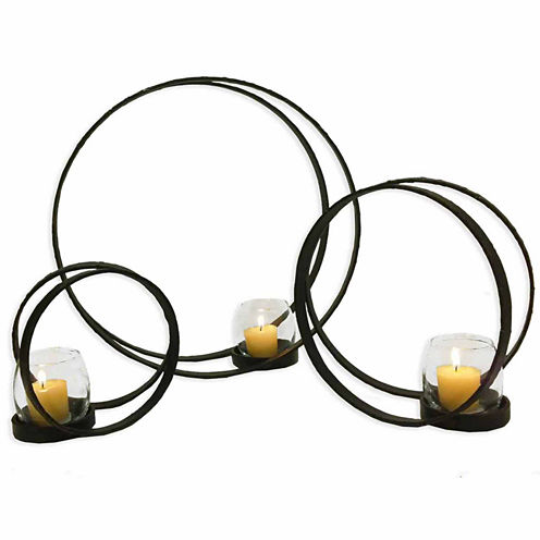 Double Orbital Candle Holders- Set of 3