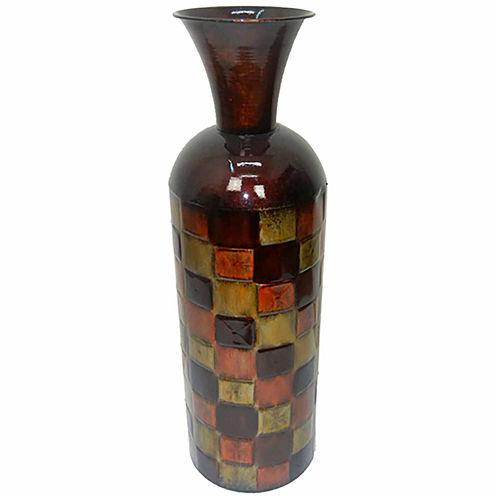 """24"""" Brown Metal Trumpet Vase"""