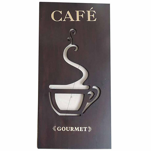 Rectangle With Coffee Cutout Wall Decor