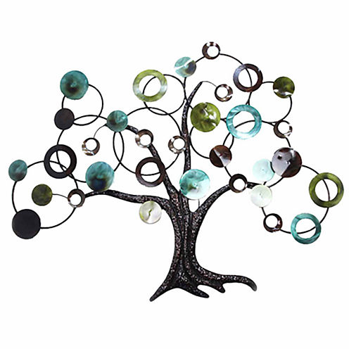 Tree with Circle Branches Wall Decor
