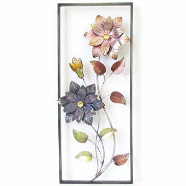 jcpenney.com | 2 Flowers In Rectangle Wall Decor