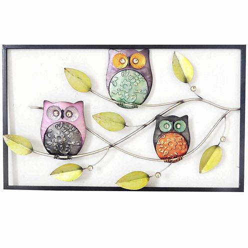 Owls On Branch Wall Decor