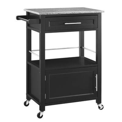 Kitchen Cart Color Black Jcpenney
