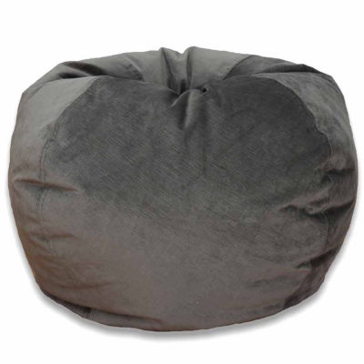 The Adult Wetlook Bean Bag Chair adds a fun extra seating option to any room in your home. Covered in durable poly-vinyl and stuffed with polystyrene beads, this contemporary lounger is a comfortable place to read, watch TV, or just relax.