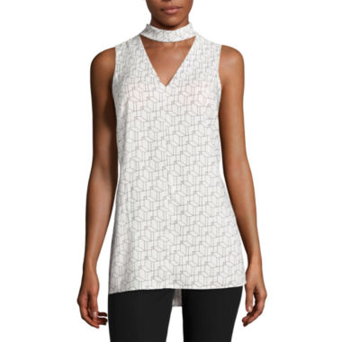 jcpenney.com | Worthington® Sleeveless Cut-Out Mockneck Top