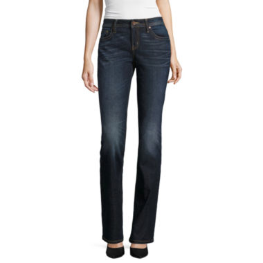 jcpenney.com | a.n.a® Flap-Pocket Thickstitch Bootcut Jeans
