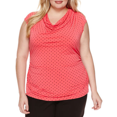 jcpenney.com | Worthington® Sleeveless Cowlneck Top - Plus