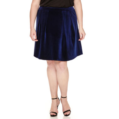 jcpenney.com | Worthington® Velvet A-Line Party Skirt - Plus