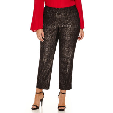 jcpenney.com | Worthington® Jacquard Ankle Pants - Plus
