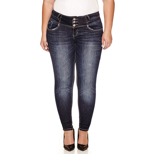 Love Indigo Skinny Jeans-Plus