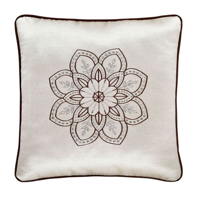 Queen Street Mariana 18IN Embellished Square Throw Pillow