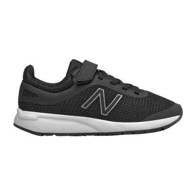 New Balance 455 Little Kids Boys Running Shoes, Color: Black White - JCPenney