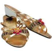 Gold Jewel Slippers - Child