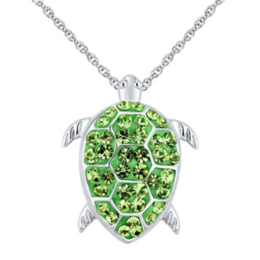 jcpenney.com | Sterling Silver Crystal Turtle Pendant Necklace