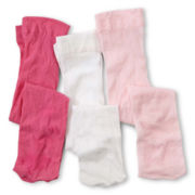 Okie Dokie® 3-pk. Tights - Girls newborn-5t