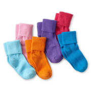 Okie Dokie® Colored Bobbie Socks - Girls