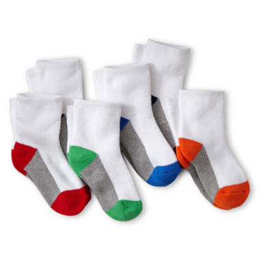 jcpenney.com | Okie Dokie® 6-pk. Low-Cut Cushioned Socks - Boys
