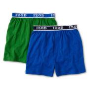 IZOD® 2-pk. Knit Boxers - Boys 8-20