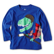 Joe Fresh™ Long-Sleeve Appliqué Tee - Boys 1t-5t