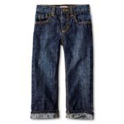 Joe Fresh™ Skull-Print Cuff Jeans - Boys 1y-5y