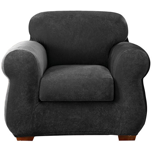 SURE FIT® Stretch Piqué 2-pc. Chair Slipcover