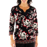 Alfred Dunner® On the Red Carpet Abstract Floral Knit Top