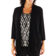 Alfred Dunner® On the Red Carpet Accordion Diamond Layered Knit Top