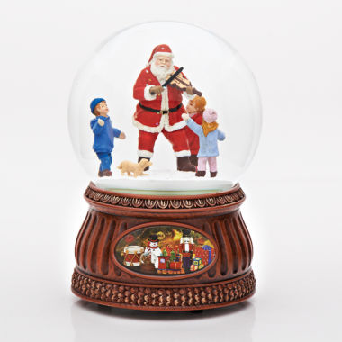 "jcpenney.com | Roman 7"" Musical Santa Glitterdome with Fiddle"
