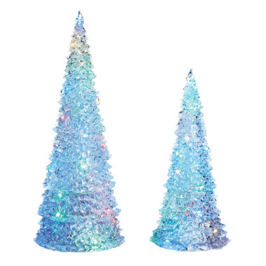 "jcpenney.com | Roman 13"" - 17"" LED Tree Figurine- Set of 2"""