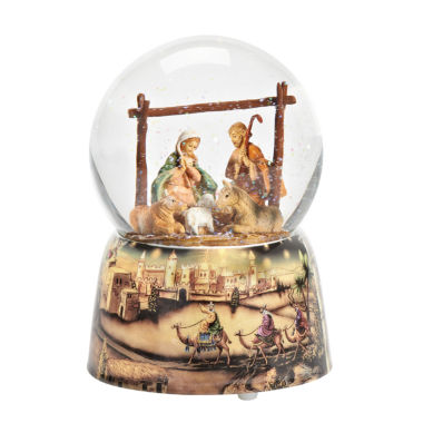 jcpenney.com | Fontanini Holy Family Musical Glass Glitterdome
