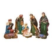 "Roman 12"" Nativity with Jewels 8 Piece Set"