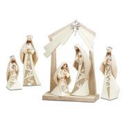 "Roman Carved 13"" Nativity Figurine 6 Piece Set"