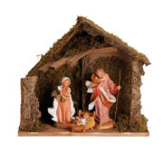 """Fontanini 12"""" Nativity 3 Piece Set with Stable"""