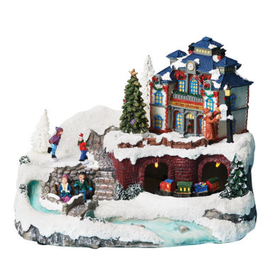 jcpenney.com | Roman Musical LED Train Station Figurine