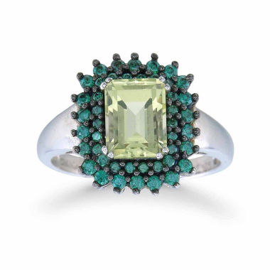 jcpenney.com | Womens Yellow Quartz Sterling Silver Halo Ring