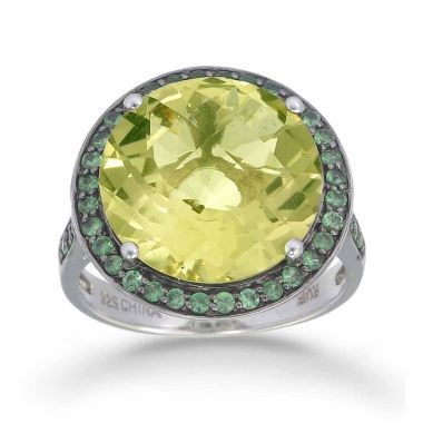 jcpenney.com | Womens Yellow Quartz Halo Ring