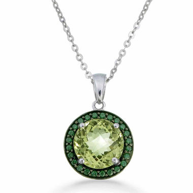 jcpenney.com | Womens Yellow Quartz Sterling Silver Pendant Necklace