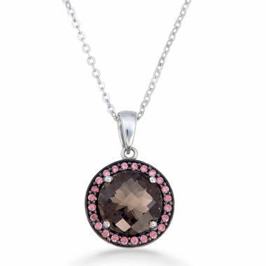 jcpenney.com | Womens Brown Quartz Sterling Silver Pendant Necklace