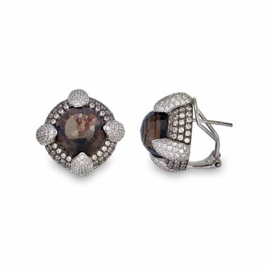 jcpenney.com | Brown Quartz Sterling Silver Stud Earrings