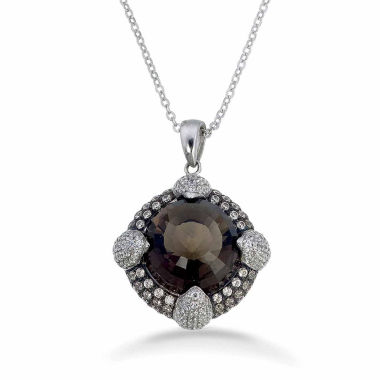 jcpenney.com | Womens Smoky Quartz Sterling Silver Pendant Necklace