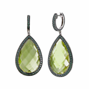 jcpenney.com | Yellow Quartz Sterling Silver Drop Earrings
