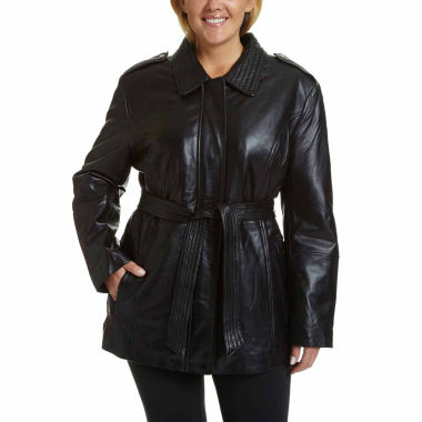 jcpenney.com | Excelled Belted Hipster Jacket - Plus
