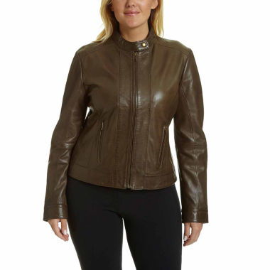 jcpenney.com | Excelled® Classic Leather Jacket - Plus