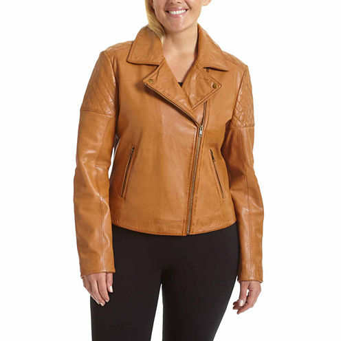 Excelled Leather Motorcycle Jacket-Plus