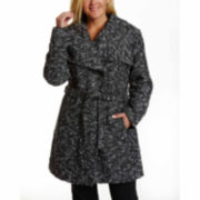 Excelled® Belted Boucle Wrap Jacket - Plus
