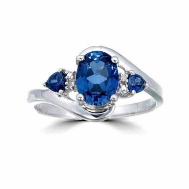 jcpenney.com | Womens Diamond Accent Blue Sapphire 3-Stone Ring