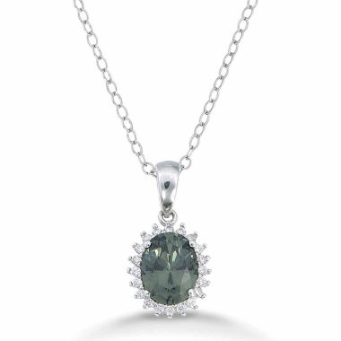 jcpenney.com | Womens Green Sterling Silver Pendant Necklace