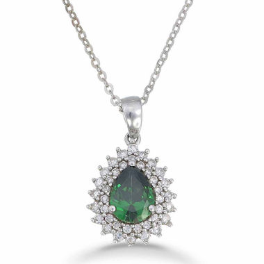 jcpenney.com | Womens Green Emerald Pendant Necklace