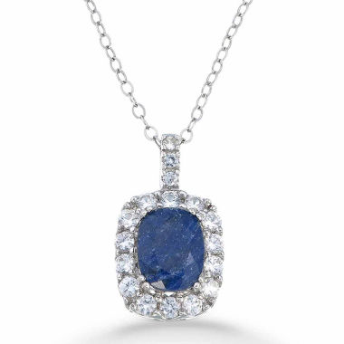 jcpenney.com | Womens Blue Sapphire Sterling Silver Pendant Necklace