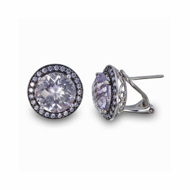 jcpenney.com | Round Purple Amethyst Sterling Silver Stud Earrings